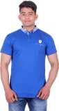 Heritage Denim Solid Men's Polo Neck Blu...