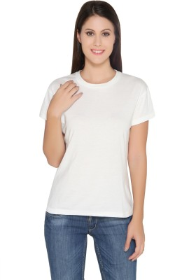 Ten on Ten Solid Women's Round Neck T-Shirt