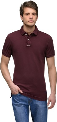 Tailor Craft Solid Men's Polo Purple T-Shirt