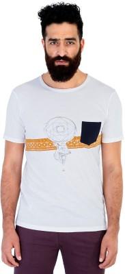 Mr Button Printed Men's Round Neck T-Shirt