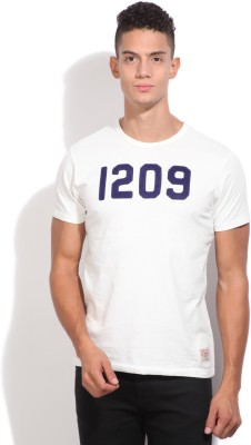 Pepe Solid Men's Round Neck White T-Shirt