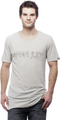 Nana Judy Solid Men's Round Neck Grey T-Shirt