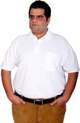Xmex Solid Men's Polo Neck White T-Shirt