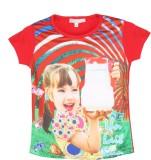 Eimoie Girls Graphic Print (Red)