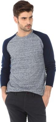 Basics Solid Men's Round Neck Dark Blue T-Shirt