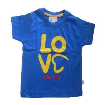 NammaBaby Self Design Baby Boy's Round Neck Blue T-Shirt