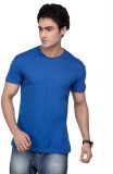 Inkovy Solid Men's Round Neck Blue T-Shi...