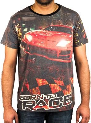 Uforix Printed Men's Round Neck T-Shirt