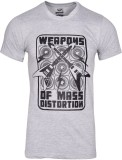 Humtees Printed Men's Round Neck Grey T-...
