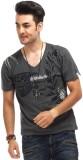 Chlorophile Printed Men's V-neck Grey T-...