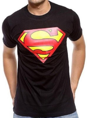 livestash Printed Men's Round Neck Black T-Shirt