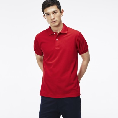 sungrace Solid Men's Polo Neck Red T-Shirt