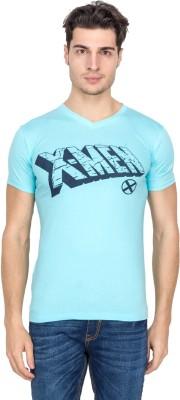 Vidyuth Traders Printed Men's V-neck Blue T-Shirt