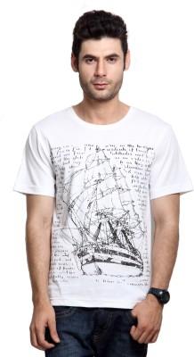 Rigo Solid Men's Round Neck White T-Shirt