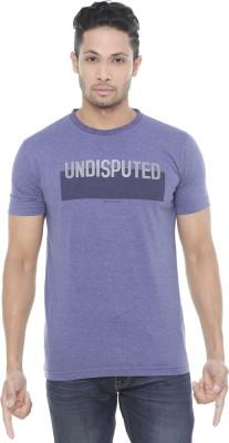 Wexford Printed Men's Round Neck Purple T-Shirt