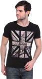 Wild Hawk Printed Men's Round Neck Black...