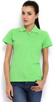 HRX Solid Women's Green T-Shirt