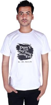 neuf Printed Men's Round Neck White T-Shirt