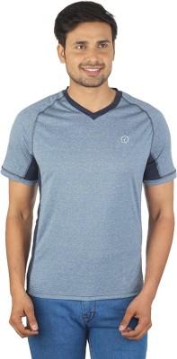 Being Responsible Self Design Men's V-neck Grey T-Shirt