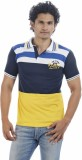 Shapers Striped Men's Polo Neck Yellow T...