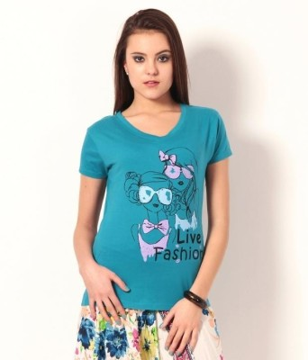 TSG Breeze Printed Women,s V-neck T-Shirt