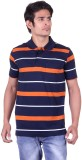 Jayis Striped Men's Polo Neck Dark Blue ...