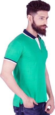 Integriti Solid Men's Polo Green T-Shirt