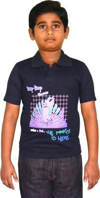 Harsha Avatar Printed Boy's Polo Neck T-Shirt