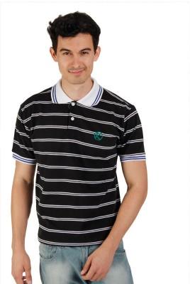 Kapapai Striped Men's Polo T-Shirt