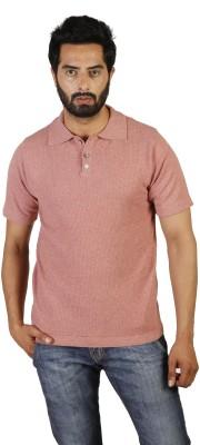 Oldberri Self Design Men's Polo Neck T-Shirt