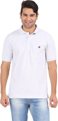 4thneed Solid Men's Polo Grey T-Shirt