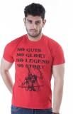 Crazymonk Printed Men's Round Neck Red T...