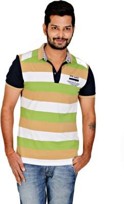 Chintum Distributors Striped Men's Flap Collar Neck T-Shirt