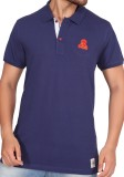 Stoke Solid Men's Polo Neck Dark Blue T-...