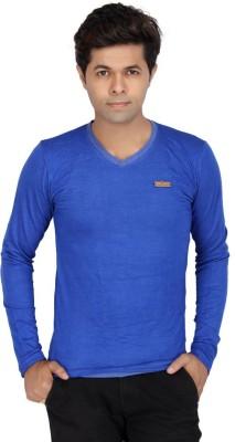 JG FORCEMAN Solid Men's Halter Neck Light Blue T-Shirt