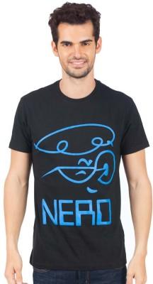 Dexter Graphic Print Men's Round Neck Black T-Shirt