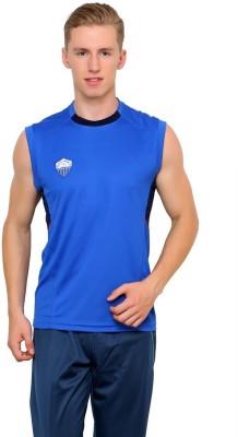 Dida Sportswear Solid Men's Round Neck Blue T-Shirt