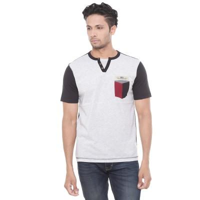 Wexford Applique Men's Henley Multicolor T-Shirt