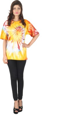 DConcept Printed Women's Round Neck Multicolor T-Shirt