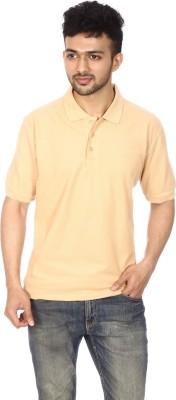 Lyril Solid Men's Polo Beige T-Shirt