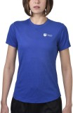 Tego Solid Women's Round Neck Blue T-Shi...