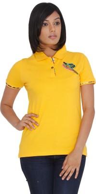 Priyanka Marda Clothing Solid Women's Polo T-Shirt