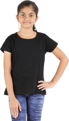 Astrix Solid Girl's Round Neck T-Shirt