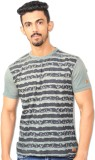 Riot Jeans Printed Men's Round Neck Gree...