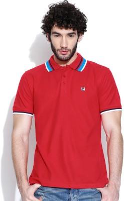 Fila Solid Men's Polo Neck T-Shirt