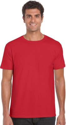 NUVA Solid Men's Round Neck Red T-Shirt