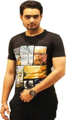 GOPAL EMPORIUM Printed Men's Round Neck Black T-Shirt