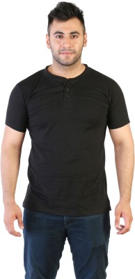 Acomharc Solid Men's Henley T-Shirt