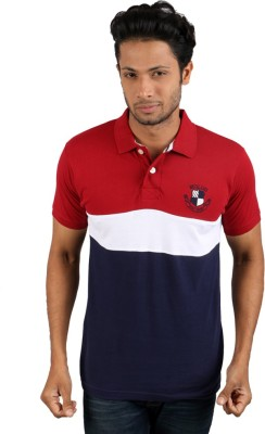 Molini Solid Men's Polo Neck Red T-Shirt