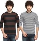 Goodtry Striped Men's Round Neck Multico...